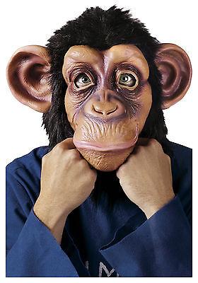 Schimpanse Chimpanzee Komische Lustig Affe Erwachsene Latex Halloween Maske