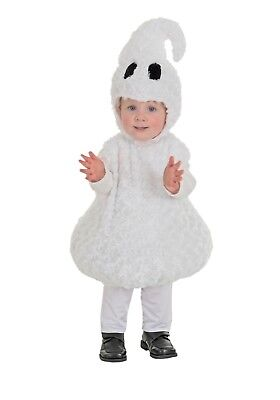 TODDLER GHOST MARSHMALLOW COSTUME SIZE LARGE 2T-4T (with defect)](Ghost Costume 4t)