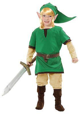 Boys Zelda Elf Warrior Costume size XS (4-6) - XL (12-14) - Elf Costume For Boys