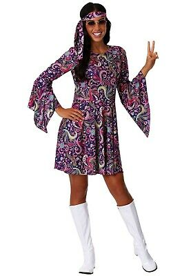 WOMEN'S WOODSTOCK HIPPIE COSTUME SIZE MEDIUM (with defect)