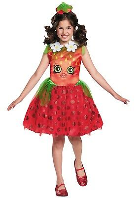 Disguise Costumes Shopkins Strawberry Kiss Girls Child Costume Size Med (7-8)