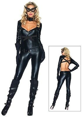SEXY BLACK CAT GIRL COSTUME SIZE-L (missing mask) - Catgirl Costumes