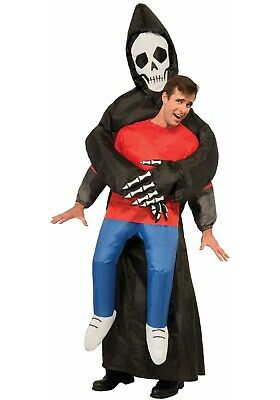 Adult Inflatable Grim Reaper Carry Me Away Costume SIZE Standard (Used)