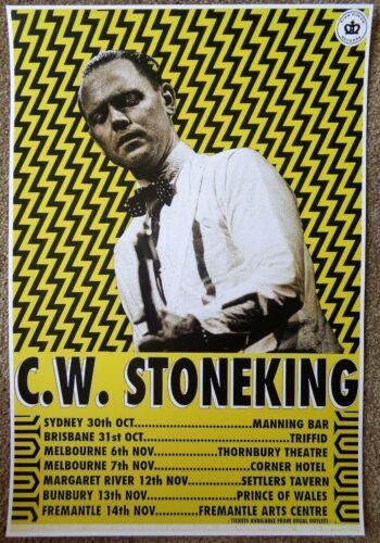 C.W. STONEKING 2015 Tour POSTER Australia Gig Concert