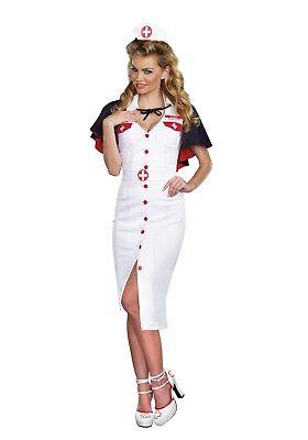 USED WOMEN'S NIGHT NURSE COSTUME SIZE LARGE (with (Womens Night Nurse Kostüme)