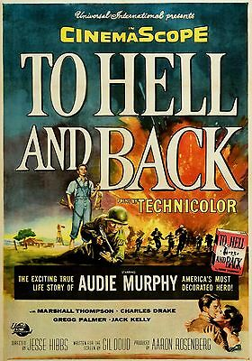 ( MAGNET Movie Poster Photo Magnet TO HELL AND BACK 1955 Audie Murphy)