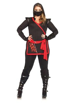 Women's Plus Size Ninja Assassin Costume SIZE 1X/2X (Used)