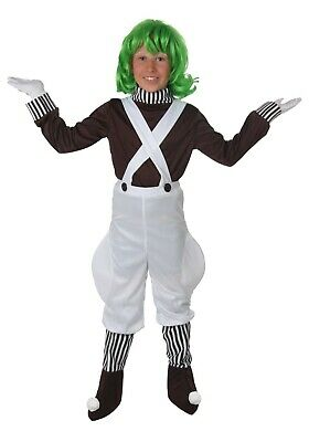 CHILD KIDS WILLY WONKA CHOCOLATE FACTORY OOMPA LOOMPA COSTUME SIZE L (USED)](Willy Wonka Costume)