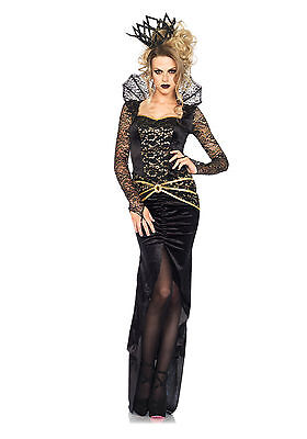 New Deluxe Gothic Evil Queen Dress Adult Womens Halloween Costume Leg Ave 85462 (Womens Gothic Halloween Costumes)