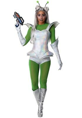 Space Costumes Women (Women's Galactic Space Alien Babe Costume Size S M)