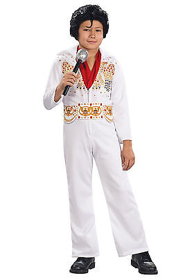 Elvis Presley Toddler Costume 2t-4t 2-4 White Jumpsuit Dress Up Halloween NEW