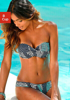 Sunseeker Bügel-Bandeau-Bikini mit grafischen Print. Gr. 36. Cup B. NEU!!!