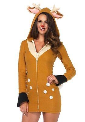 LAG 85587 Leg Avenue Hirsch Reh Cozy Fawn Wild Tier Fasching Damen Kostüm - Hirsch Reh Kostüm
