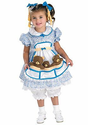 PUMPKIN JUNCTION GOLDILOCKS CHILD HALLOWEEN COSTUME GIRL'S TODDLER SIZE 2-4](Pumpkin Costume Toddler Girl)