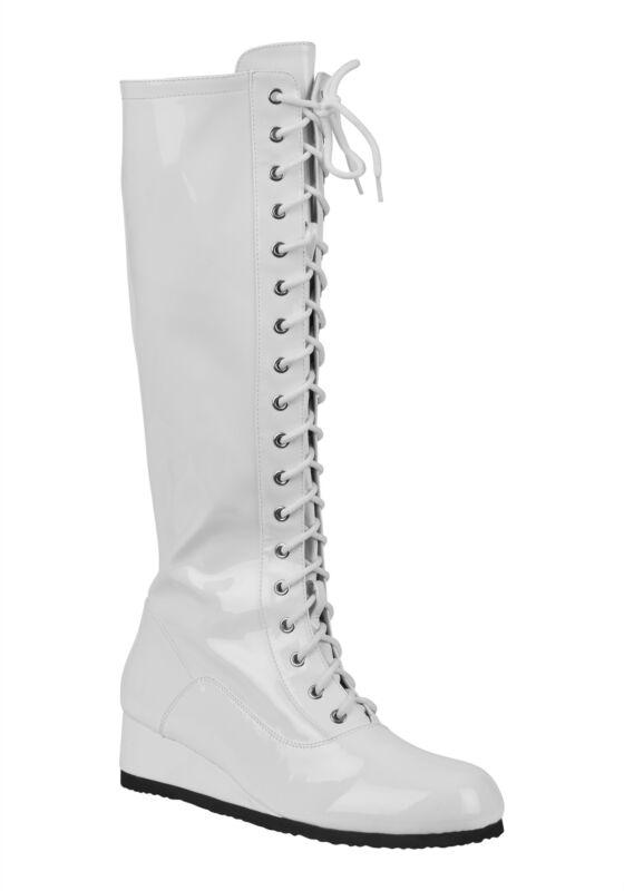 Mens White Wrestling Boots
