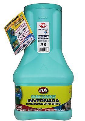 Invernador con dosificador PQS para mantenimiento de piscina. Bote 2 Kg