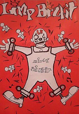 "MUSIC POSTER~Limp Bizkit 1990's Orange Clown Help Me 23x33"" Original UK Import~"