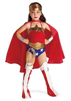 Wonder Woman Child Costume Superhero Justice League DC Size Ages 3-11  (Kid Wonder Woman Costume)