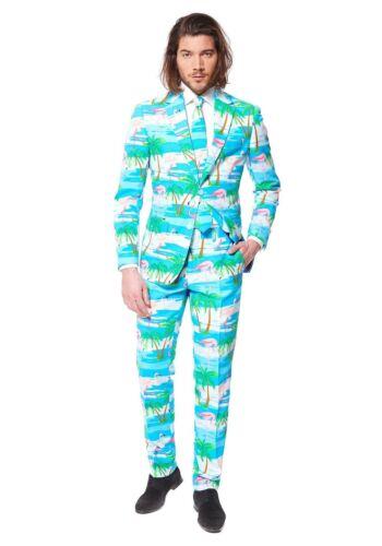 OPPOSuits Flaminguy Flamingo 3 Piece Suit Prom Party Costume Jacket Pants Tie