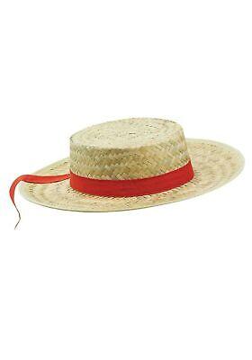 Adult Straw Gondolier Hat - Gondolier Hat