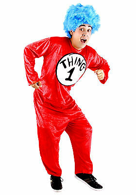 Thing 1 Costumes (Dr. Seuss Thing 1 & 2 Adult Costume -)
