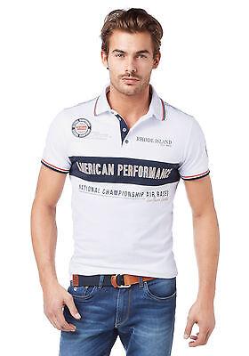 Rhode Island Poloshirt. Weiß. Plusgrößen L-XXL. NEU!!! KP 44,99 SALE%%%