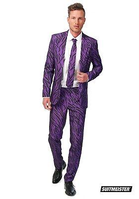 MEN'S SUITMEISTER BASIC PURPLE PIMP TIGER SUIT COSTUME SIZE MEDIUM (with defect) (Purple Pimp Suit)