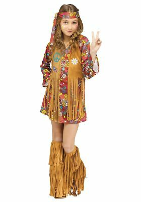 Child Peace & Love Hippie Costume - Childs Hippie Costume