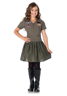 Top Gun Flight Dress Girl's Costume - Top Gun Girl Kostüm