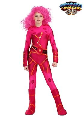 CHILD and TODDLER LAVAGIRL COSTUME Sizes 4T SMALL MEDIUM or LARGE (with defect)