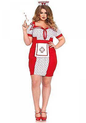 LAG Leg Avenue 85438X Damen Kostüm Krankenschwester Nurse Bedside Betty XL-4XL (Leg Avenue Krankenschwester)