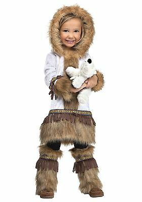 TODDLER GIRLS ESKIMO COSTUME SIZE SMALL (missing boot covers)
