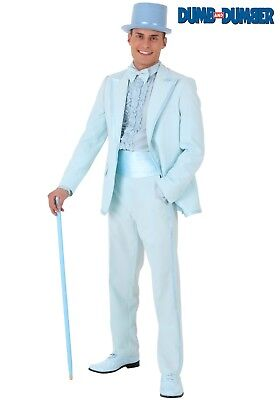 PLUS SIZE DUMB AND DUMBER HARRY BLUE TUXEDO COSTUME SIZE 2X (w/defect)