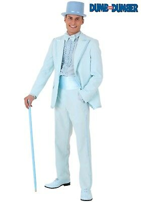 PLUS SIZE DUMB AND DUMBER HARRY BLUE TUXEDO COSTUME SIZE 2X (w/defect) - Blue Dumb And Dumber Tuxedo