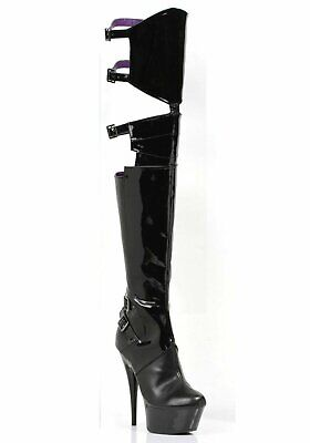 Ellie Shoes 609-FELICIA 6 Inch Pointed Stiletto Heel Thigh High Stretch Boots