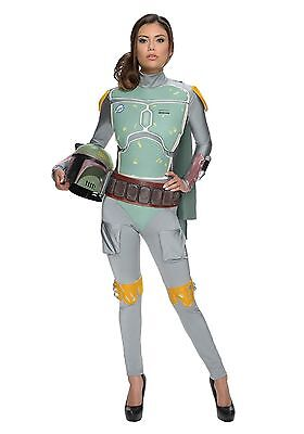 STAR WARS Official Sexy Boba Fett Adult Women Halloween Costume/Mask XS, S, M, L