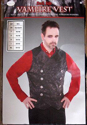 Halloween Kostüm Vampir Weste Gr. M/L Dracula Karneval Fasching Herren -