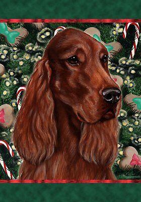 Best of Breed Garden Flag IRISH SETTER Christmas Holiday Tre