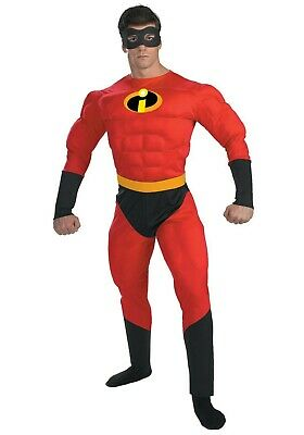 ADULT PLUS SIZE MR. INCREDIBLE DELUXE MUSCLE COSTUME SIZE XXL (w/defect) - Mr Incredible Costume Xxl