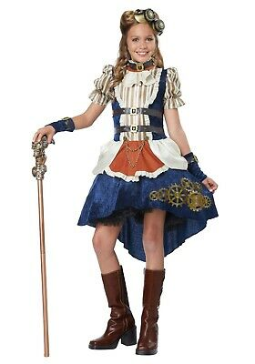 Child Kid sGirls Steampunk Dress Costume SIZE L (with defect)