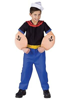 CHILD POPEYE THE SAILOR COSTUME SIZE LARGE 12-14 (with defect)