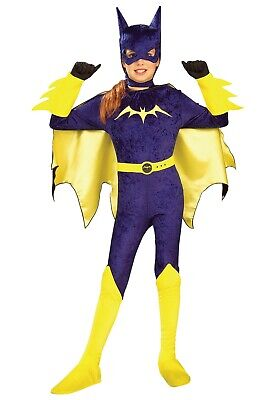 CHILD GOTHAM GIRLS BATGIRL COSTUME SIZE SMALL 4-6 (with defect)