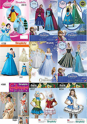 Simplicity Nähmuster Kostüm Disney Prinzessin Cinderella Frozen Film