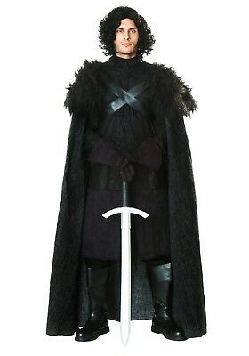 ADULT GAME OF THRONES DARK NORTHERN KING JON SNOW COSTUME SIZE M (with defect) - King Costumes Adults