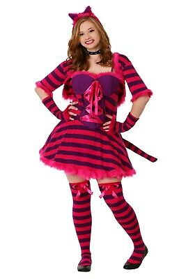 Guy In Fairy Costume (WOMEN'S SEXY ALICE IN WONDERLAND CHESHIRE CAT COSTUME SIZE PLUS 4X (with)