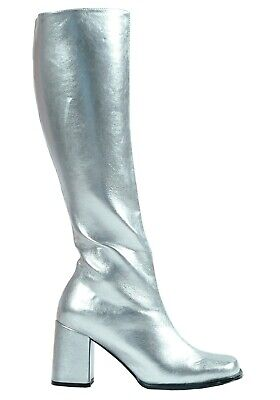 Silver Costume Boots (WOMEN'S SILVER GOGO COSTUME BOOTS SIZE US 8)