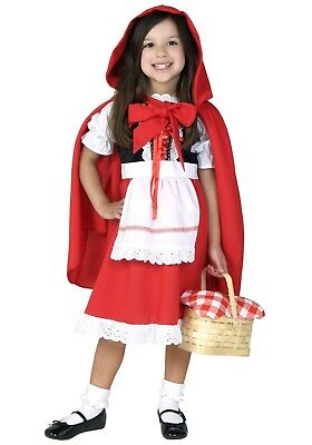 DELUXE CHILD LITTLE RED RIDING HOOD COSTUME SIZE XSMALL (MISSING CAPE) - Little Red Riding Hood Costume Child