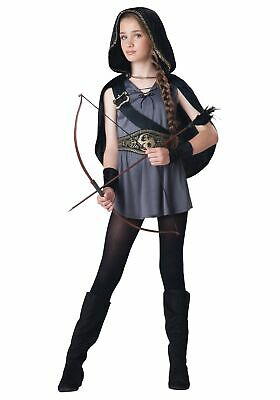 Girls Huntress Costume (Girls Hooded Huntress Costume)