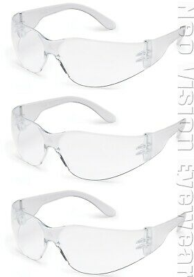 3 Pair/Pack Radians Mirage Anti Fog Clear Lens Safety Glasses Z87+