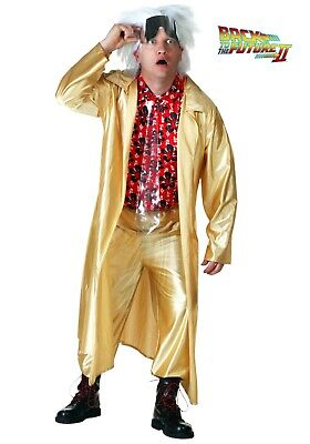 Doc Brown Costume (BACK TO THE FUTURE 2015 DOC BROWN COSTUME SIZE SMALL (missing glasses &)
